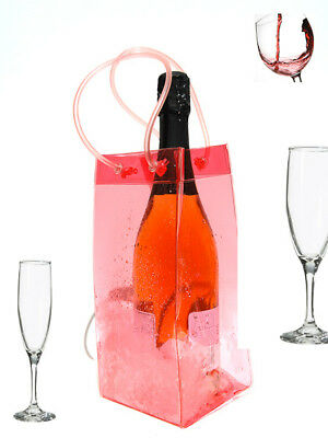 Ice Bag Wine Cooler Champagne Bucket Party Wine BagPINK