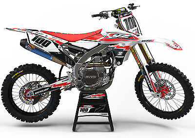 Yamaha Yz 125 250 2015-2017 Motocross Graphics Mx Graphics Kit Retro White