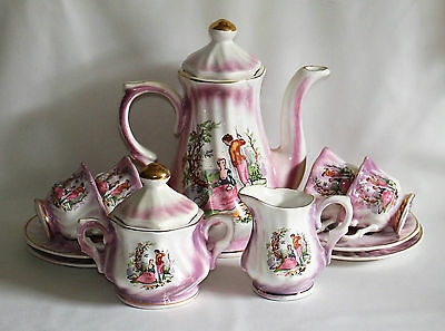 Tea/Coffee Set Delightful Romantic Scene Lady and Gentleman Azim Turkish Style