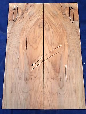 English yew electric / bass guitar bookmatched drop tops / body cap sets