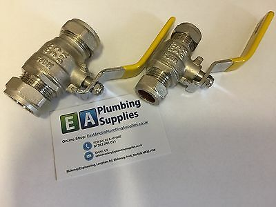 15mm & 22mm  Compression GAS EN331 approved lever ball valves