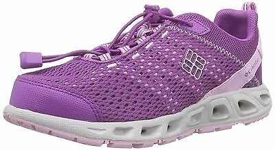 New Columbia Youth Drainmaker III Razzle Pink Clover Shoe Quick Dry Sneaker 7 M