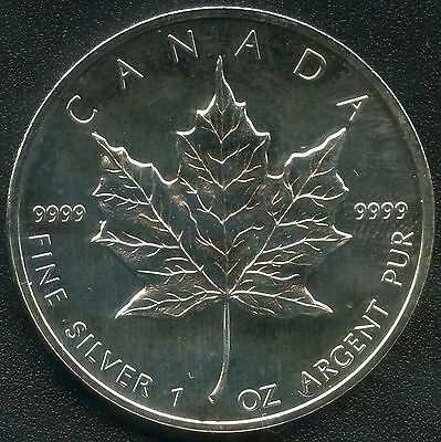 1998 Canada 1 Oz. 5 Dollar Maple Leaf Coin ( 31.1035 Grams .9999 )