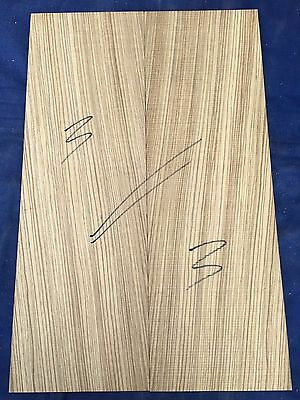 Zebrawood / zebrano electric / bass guitar bookmatched drop tops / body caps