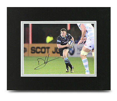 Duncan Weir Signed 10x8 Photo Display Scotland Rugby Memorabilia Autograph COA