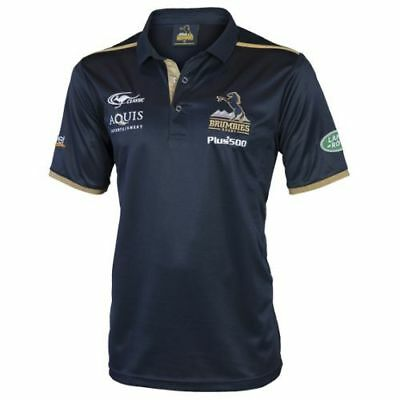 ACT Brumbies 2017 Rugby Union Mens Polo Shirt BNWT Clothing