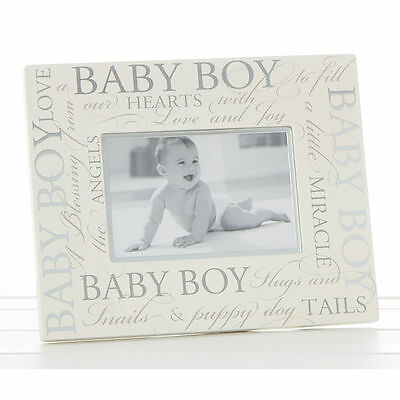 "Lovely ""Baby Boy"" 6"" x 4"" Christening Photo Frame by Haysom Interiors"