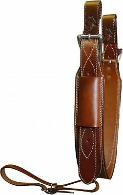 "Showman 3"" Wide Medium Oil LEATHER Horse Flank / BACK CINCH with Roller Buckles"