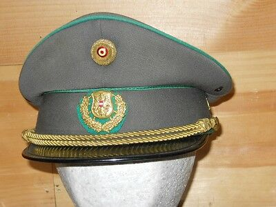 Post-war Austrian visor cap, w/nice profile, and gold badges and cord-Reduced!