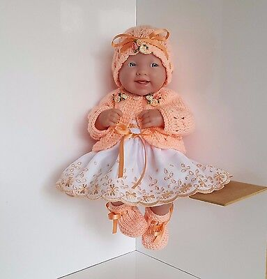 Handmade Baby Dolls Clothes for 14 inch BERENGUER /CUPCAKE LA NEWBORN /REBORN pe