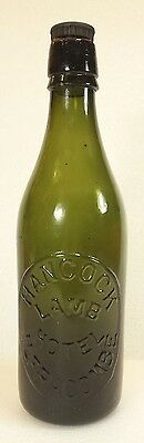Antique English Ginger Beer Ale Cider Bottle Hancock Lamb Hotel Ilfracombe Devon
