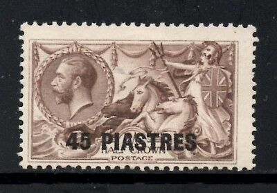 British Levant 1921 George V 45pi.on 2s.6d Chocolate-Brown SG.48 Mint (No Gum)