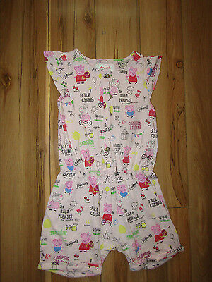 Next, peppa pig summer short playsuit, size 3-4 years.