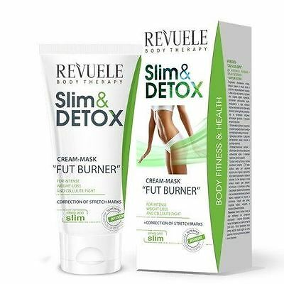 Revuele Slim & Detox Cream Mask Fat Burner Anti-Cellulite Treatment - 200ml