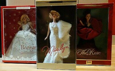 Barbie Collector Dolls x3 Never out of boxes *see description*