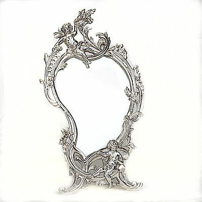 Art Nouveau Period Table Mirror Silvered bronze, on Easel Support