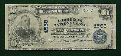 1902 Commercial National Bank, High Point NC $10 National Note; CH#4568