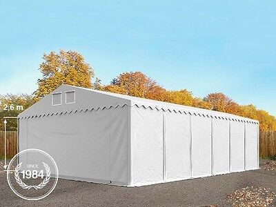 Professional 8x12m XXL Heavy Duty STRONG PVC 550g Storage Tent Shelter in white