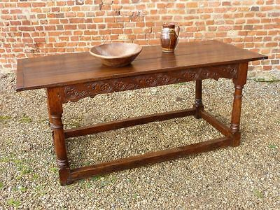17th Century English Antique Oak Refectory Table Circa 1650 -1680