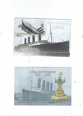 2 Postcards  Relating To The Lusitania