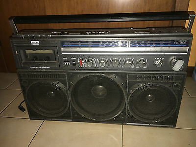 Vintage anni 80's Radio Stereo Philips D8444 Ghetto Blaster BoomBox Boom Box WOW