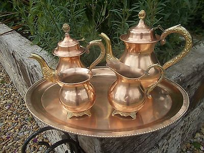 Regal French Vintage Silver Lined? Large Copper Coffee Tea Set Ref T11/282