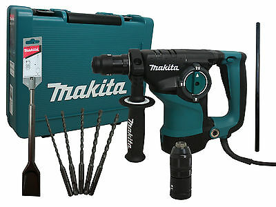 Makita Kombihammer SDS-PLUS HR2811FT + Spatmeissel SDS PLUS B-14059 HR 2811 FT