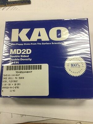 "5 1/4""(5.25"") New Box 10 KAO Blue Box DSDD Disk Floppy for Atari 800/XL/XE"