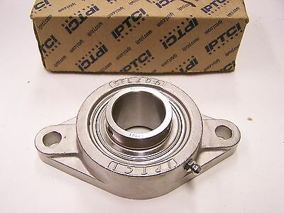 "IPTCI SUCSFL 206-20 Stainless Steel 2-Bolt Flange Bearing 1-1/4"" Bore New"