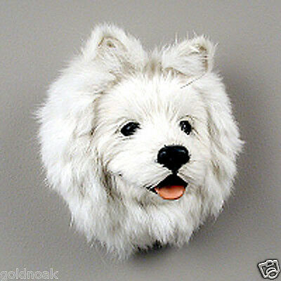 (1) American Eskimo Fur Dog Magnet And One Flat Dog Magnet Combo. Our Choice