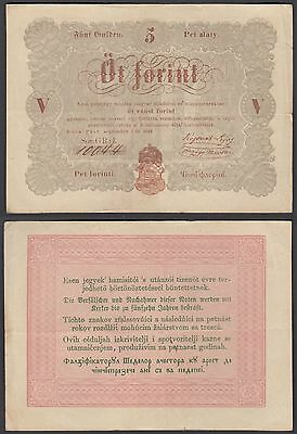 Hungary 5 Forint 1848 (VF) Condition Banknote P-S116