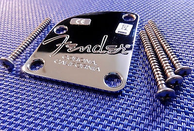 USA Fender American Select Strat Tele Strat NECK PLATE Chrome Contour Guitar