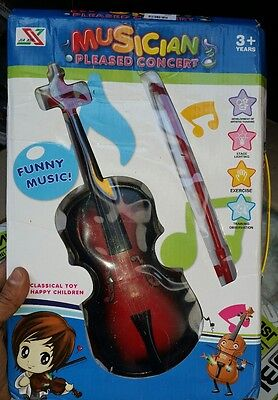 Musician Pleased Concert Kids Toy Violin 3+