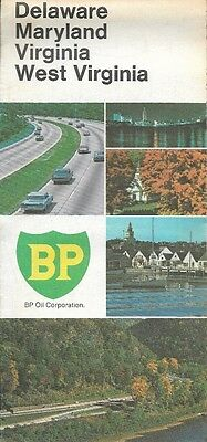 1969 BP OIL Road Map DELAWARE MARYLAND WEST VIRGINIA Richmond Washington DC