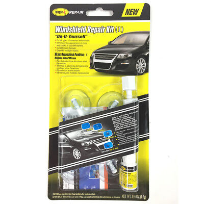 Durable Resin Formula Windshield / Windscreen Cracks & Chips Repair Kit