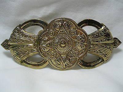 Vintage New Old Stock Large Gold Barrette New Never Worn Clip