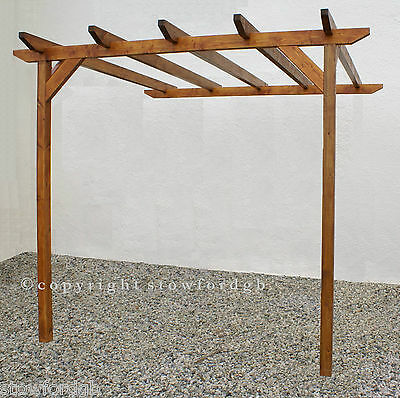 2.4m x 3.6m Lean to wooden Pergola - With post height options