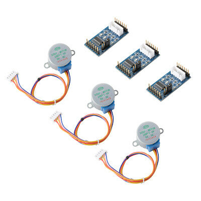 3Pcs 28BYJ-48 DC5V Stepper Motor +ULN2003 Driver Module Board for Arduino TE759