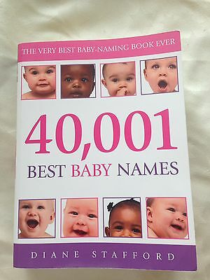 BRAND NEW 40,001 best Baby Names Book