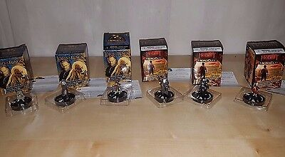 Lord of the Rings & Hobbit: Unexpected Journey Heroclix 6 Rare Miniature Figures