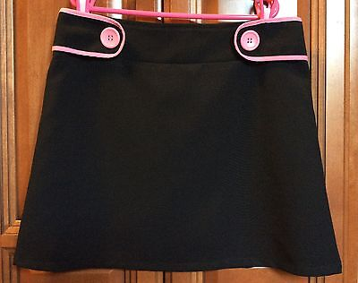 Speechless Black Skirt with Pink Buttons ~ Girl's Size 12