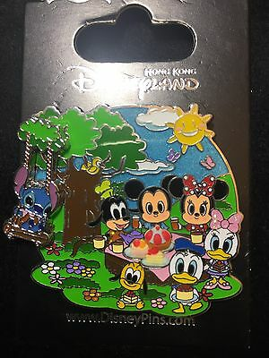 Hong Kong Disneyland Disney Hkdl Pin Stitch play swing Donald picnics 3D 102947