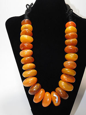 African Best Tribal Jewelry Berber resin beads Necklace from Morocco