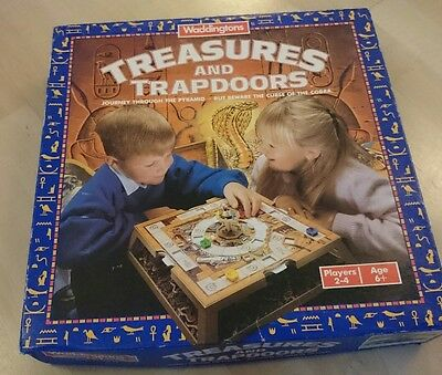 Boxed Near Complete Vintage Waddingtons Board Game Treasures and Trapdoors