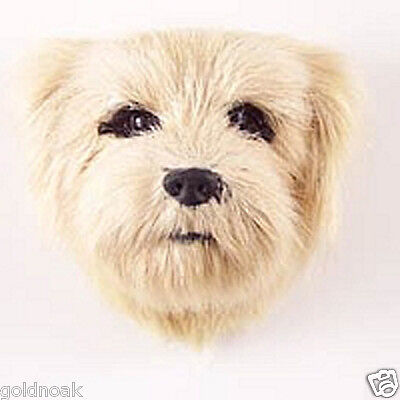 (1) NORFOLK TERRIER DOG FUR MAGNET & FLAT DOG MAGNET COMBO!realistic collectible