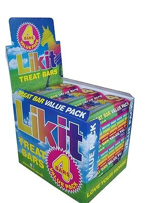 Likit Treat Bars - 4 bar value pack containing 1 x each flavour. SAVE MONEY !