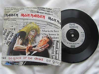 """Iron Maiden - Be Quick Or Be Dead 7"""" - Uk 1992 Emi 229"""