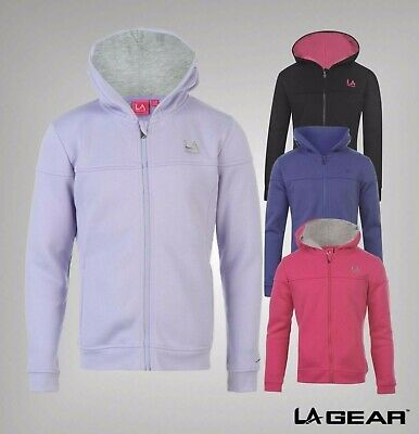 Junior Girls LA Gear Long Sleeves Full Zip Hoody Jacket Sizes Age 7-13