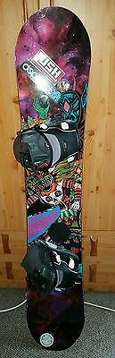Capita Horroscope snowboard 157 with flow bindings 6-9