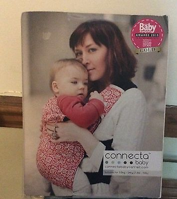 CONNECTA BABY CARRIER. Brand New. Chambray Dot. Blue & White